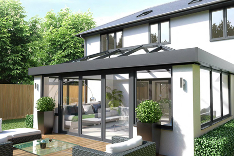Aluminium Orangeries cardiff with decking