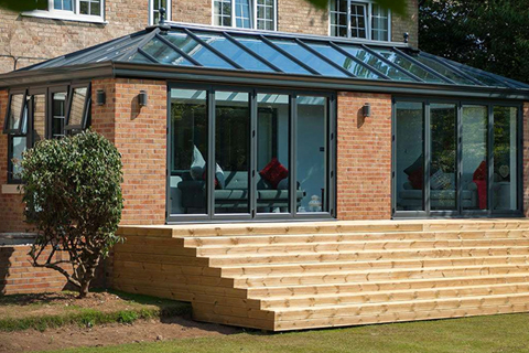 Aluminium Orangeries cardiff decking steps
